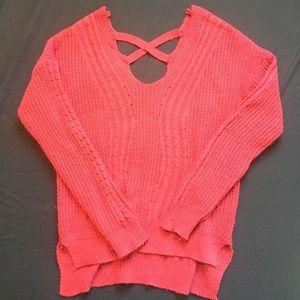 Sweaters - Red knit sweater
